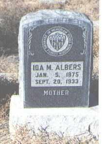 ALBERS, IDA M. - Bernalillo County, New Mexico | IDA M. ALBERS - New Mexico Gravestone Photos