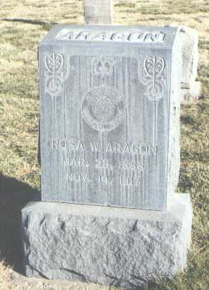 ARAGON, ROSA W. - Bernalillo County, New Mexico | ROSA W. ARAGON - New Mexico Gravestone Photos