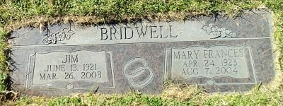 BRIDWELL, MARY FRANCES - Bernalillo County, New Mexico | MARY FRANCES BRIDWELL - New Mexico Gravestone Photos