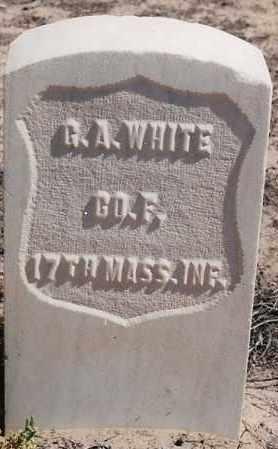 WHITE, GEORGE A. - Bernalillo County, New Mexico | GEORGE A. WHITE - New Mexico Gravestone Photos