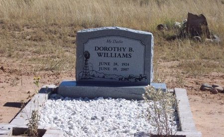 WILLIAMS, DOROTHY B. - Catron County, New Mexico   DOROTHY B. WILLIAMS - New Mexico Gravestone Photos