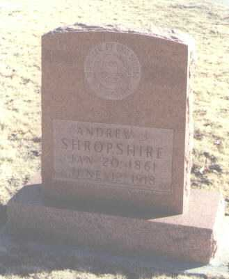 SHROPSHIRE, ANDREW J. - Chaves County, New Mexico | ANDREW J. SHROPSHIRE - New Mexico Gravestone Photos