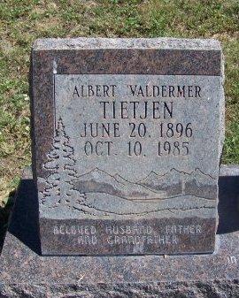TIETJEN, ALBERT VALDERMER - Cibola County, New Mexico | ALBERT VALDERMER TIETJEN - New Mexico Gravestone Photos