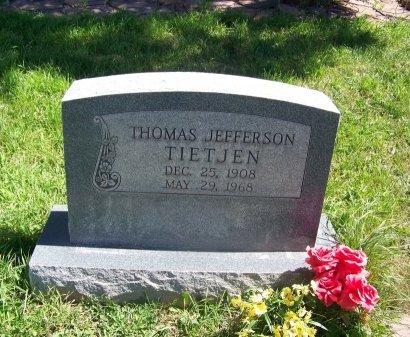 TIETJEN, THOMAS JEFFERSON - Cibola County, New Mexico | THOMAS JEFFERSON TIETJEN - New Mexico Gravestone Photos
