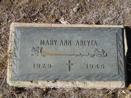 ABEYTA, MARY ANN - Colfax County, New Mexico | MARY ANN ABEYTA - New Mexico Gravestone Photos