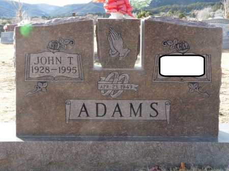 ADAMS, JOHN THOMAS - Colfax County, New Mexico | JOHN THOMAS ADAMS - New Mexico Gravestone Photos