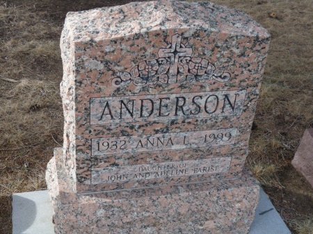 ANDERSON, ANNA L - Colfax County, New Mexico   ANNA L ANDERSON - New Mexico Gravestone Photos