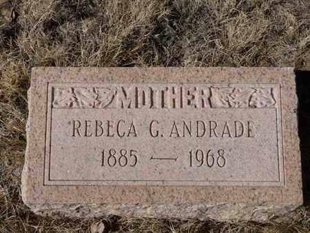 ANDRADE, REBECA G. - Colfax County, New Mexico | REBECA G. ANDRADE - New Mexico Gravestone Photos