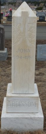 ARDISSONE, JOHN - Colfax County, New Mexico | JOHN ARDISSONE - New Mexico Gravestone Photos