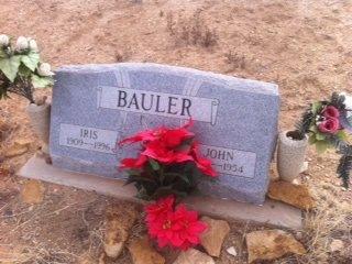BAULER, IRIS - Colfax County, New Mexico | IRIS BAULER - New Mexico Gravestone Photos