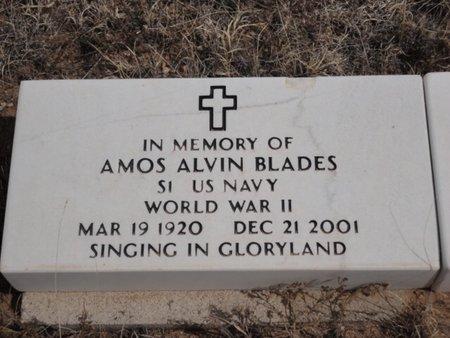 BLADES (VETERAN WWII), AMOS ALVIN - Colfax County, New Mexico | AMOS ALVIN BLADES (VETERAN WWII) - New Mexico Gravestone Photos