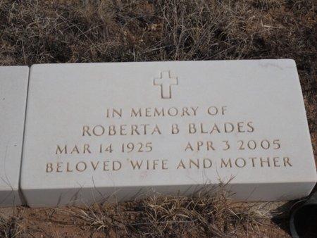 BLADES, ROBERTA B - Colfax County, New Mexico | ROBERTA B BLADES - New Mexico Gravestone Photos