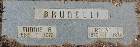 BRUNELLI, MINNIE A - Colfax County, New Mexico | MINNIE A BRUNELLI - New Mexico Gravestone Photos