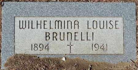 BRUNELLI, WILHELMINA LOUISE - Colfax County, New Mexico | WILHELMINA LOUISE BRUNELLI - New Mexico Gravestone Photos