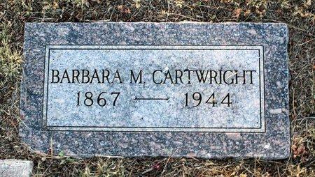 CARTWRIGHT, BARBARA M. - Colfax County, New Mexico   BARBARA M. CARTWRIGHT - New Mexico Gravestone Photos