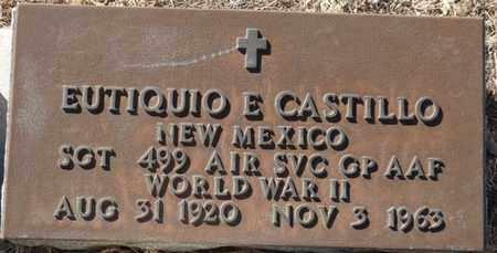 CASTILLO (VETERAN WWII), EUTIQUIO E (NEW) - Colfax County, New Mexico | EUTIQUIO E (NEW) CASTILLO (VETERAN WWII) - New Mexico Gravestone Photos