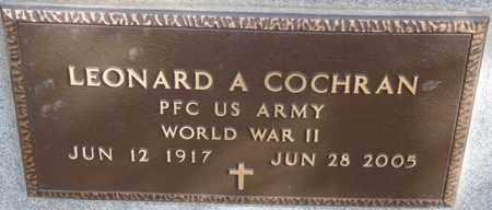 COCHRAN SR. (VETERAN WWII), LEONARD A - Colfax County, New Mexico | LEONARD A COCHRAN SR. (VETERAN WWII) - New Mexico Gravestone Photos