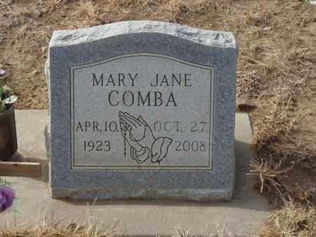 COMBA, MARY JANE - Colfax County, New Mexico | MARY JANE COMBA - New Mexico Gravestone Photos
