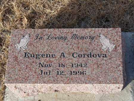 CORDOVA, EUGENE A - Colfax County, New Mexico | EUGENE A CORDOVA - New Mexico Gravestone Photos