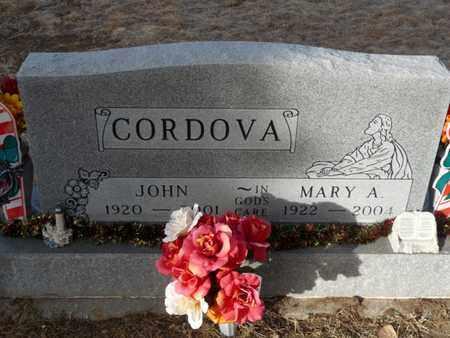 CORDOVA, MARY A - Colfax County, New Mexico | MARY A CORDOVA - New Mexico Gravestone Photos