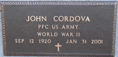CORDOVA (VETERAN WWII), JOHN - Colfax County, New Mexico | JOHN CORDOVA (VETERAN WWII) - New Mexico Gravestone Photos