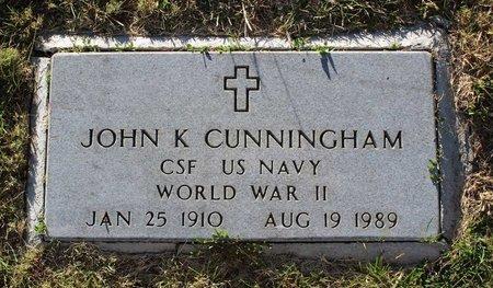 CUNNINGHAM (VETERAN WWII), JOHN K. (NEW) - Colfax County, New Mexico | JOHN K. (NEW) CUNNINGHAM (VETERAN WWII) - New Mexico Gravestone Photos