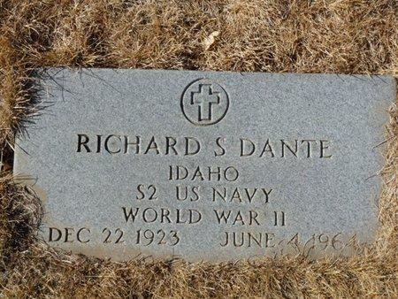 DANTE (VETERAN WWII), RICHARD S (NEW) - Colfax County, New Mexico   RICHARD S (NEW) DANTE (VETERAN WWII) - New Mexico Gravestone Photos