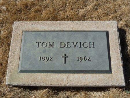 DEVICH, TOM - Colfax County, New Mexico | TOM DEVICH - New Mexico Gravestone Photos