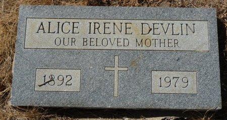 DEVLIN, ALICE IRENE - Colfax County, New Mexico   ALICE IRENE DEVLIN - New Mexico Gravestone Photos