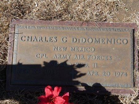 DI DOMENICO (VETERAN WWII), CHARLES G - Colfax County, New Mexico   CHARLES G DI DOMENICO (VETERAN WWII) - New Mexico Gravestone Photos