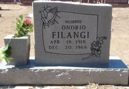 FILANGI, ONORIO - Colfax County, New Mexico   ONORIO FILANGI - New Mexico Gravestone Photos