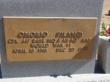 FILANGI (VETERAN WWII), ONORIO - Colfax County, New Mexico   ONORIO FILANGI (VETERAN WWII) - New Mexico Gravestone Photos