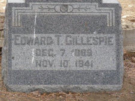 GILLESPIE, EDWARD THOMAS - Colfax County, New Mexico | EDWARD THOMAS GILLESPIE - New Mexico Gravestone Photos