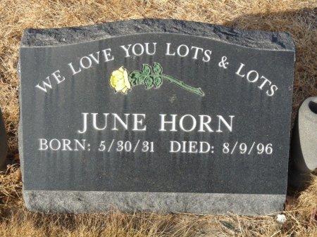 HORN, JUNE - Colfax County, New Mexico   JUNE HORN - New Mexico Gravestone Photos