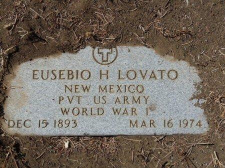 LOVATO (VETERAN WWI), EUSEBIO H (NEW) - Colfax County, New Mexico | EUSEBIO H (NEW) LOVATO (VETERAN WWI) - New Mexico Gravestone Photos