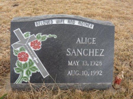 SANCHEZ, ALICE - Colfax County, New Mexico   ALICE SANCHEZ - New Mexico Gravestone Photos