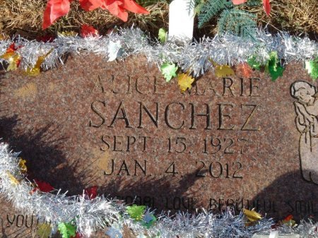 SANCHEZ, ALICE MARIE - Colfax County, New Mexico | ALICE MARIE SANCHEZ - New Mexico Gravestone Photos