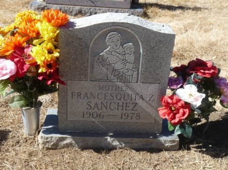 SANCHEZ, FRANCESQUITA Z - Colfax County, New Mexico | FRANCESQUITA Z SANCHEZ - New Mexico Gravestone Photos