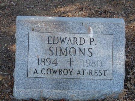 SIMONS, EDWARD P - Colfax County, New Mexico | EDWARD P SIMONS - New Mexico Gravestone Photos