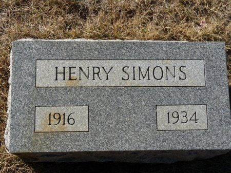 SIMONS, HENRY - Colfax County, New Mexico | HENRY SIMONS - New Mexico Gravestone Photos