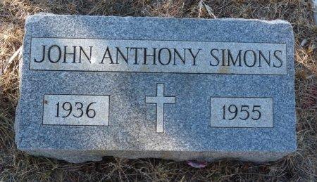 SIMONS, JOHN ANTHONY - Colfax County, New Mexico | JOHN ANTHONY SIMONS - New Mexico Gravestone Photos