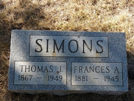 SIMONS, FRANCES AGNES - Colfax County, New Mexico | FRANCES AGNES SIMONS - New Mexico Gravestone Photos