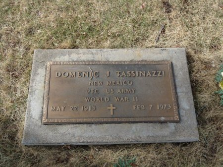 TASSINAZZI (VETERAN WWII), DOMENIC J (NEW) - Colfax County, New Mexico | DOMENIC J (NEW) TASSINAZZI (VETERAN WWII) - New Mexico Gravestone Photos