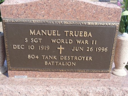 TRUEBA (VETERAN WWII), MANUEL (NEW) - Colfax County, New Mexico   MANUEL (NEW) TRUEBA (VETERAN WWII) - New Mexico Gravestone Photos