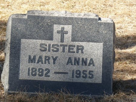 UNKNOWN, SISTER MARY ANNA - Colfax County, New Mexico   SISTER MARY ANNA UNKNOWN - New Mexico Gravestone Photos