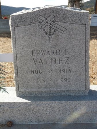 VALDEZ, EDWARD F - Colfax County, New Mexico | EDWARD F VALDEZ - New Mexico Gravestone Photos