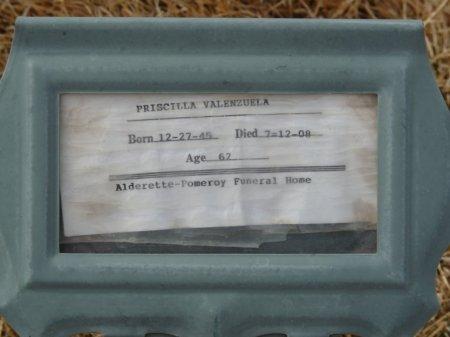 VALENZUELA, PRISCILLA - Colfax County, New Mexico | PRISCILLA VALENZUELA - New Mexico Gravestone Photos