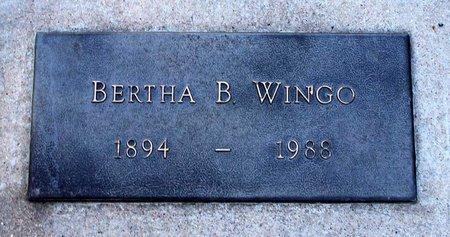 WINGO, BERTHA B. - Colfax County, New Mexico   BERTHA B. WINGO - New Mexico Gravestone Photos