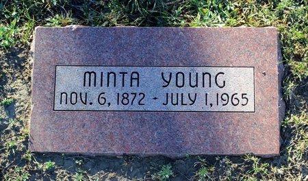 YOUNG, MINTA - Colfax County, New Mexico | MINTA YOUNG - New Mexico Gravestone Photos