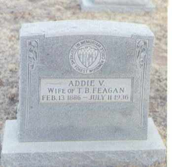 FEAGAN, ADDIE V. - Curry County, New Mexico | ADDIE V. FEAGAN - New Mexico Gravestone Photos